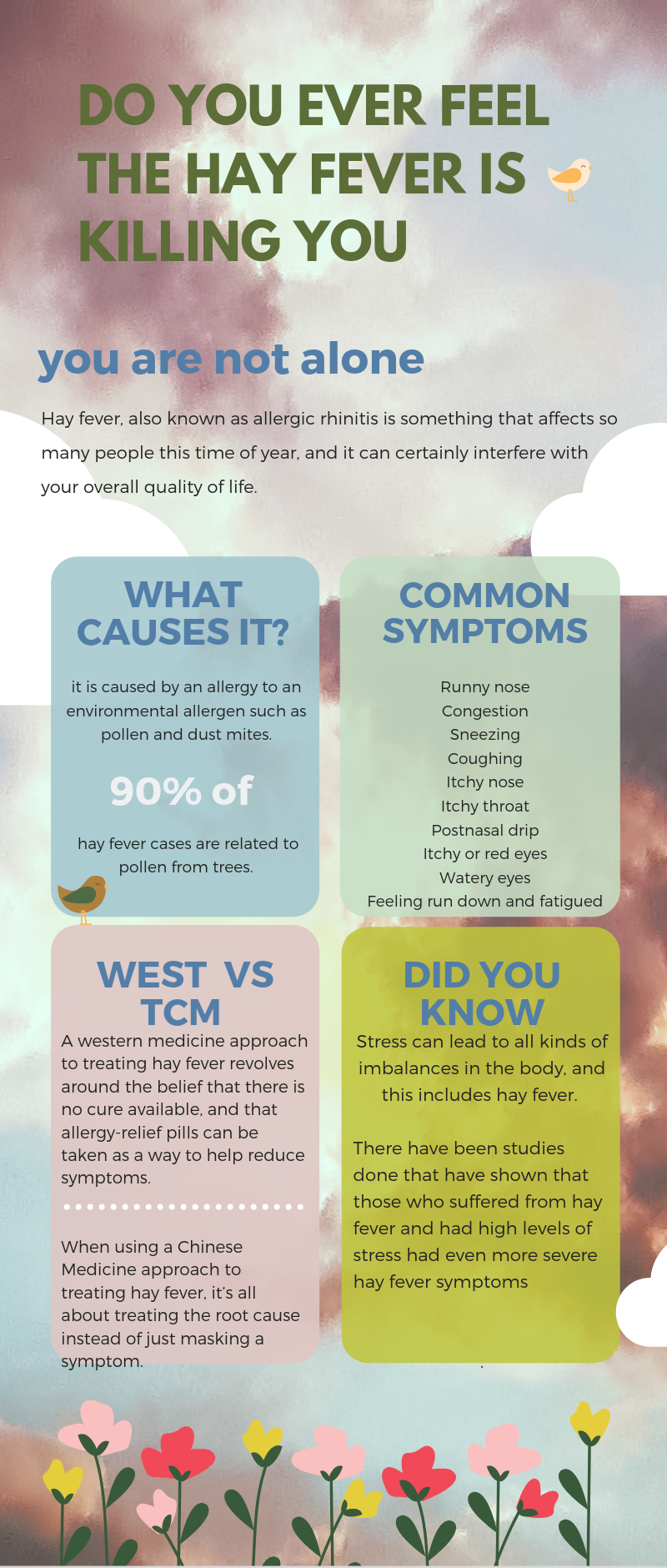 treat hayfever naturally with chinese medicine